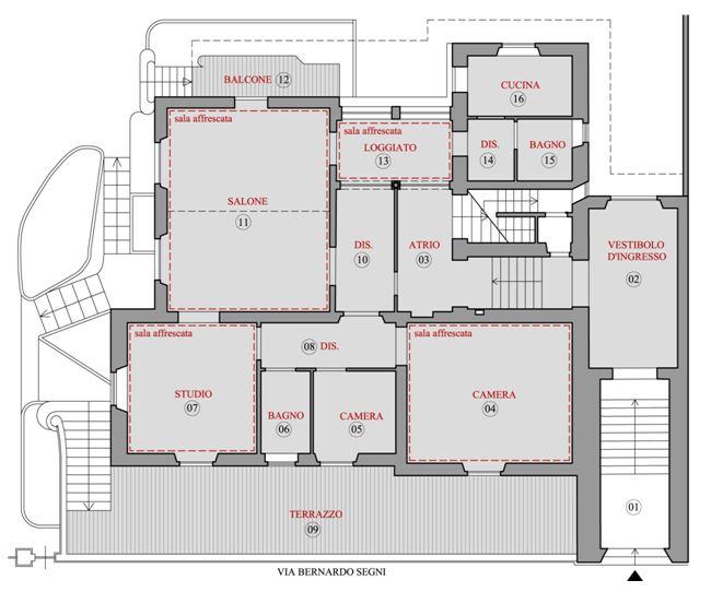 Firenze villa banti ice italian trade agency for Planimetrie della mia villa