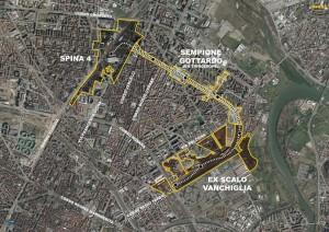 Torino Spina 4 – area da valorizzare Pianta principale