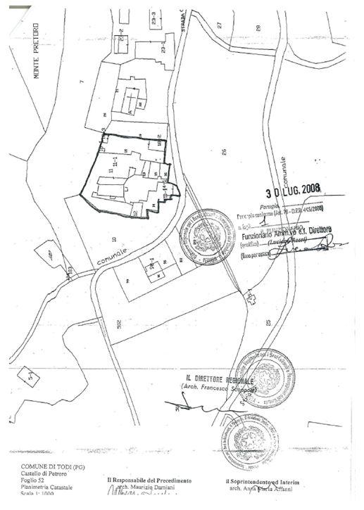 Todi – Castello Di Petroro Pianta principale