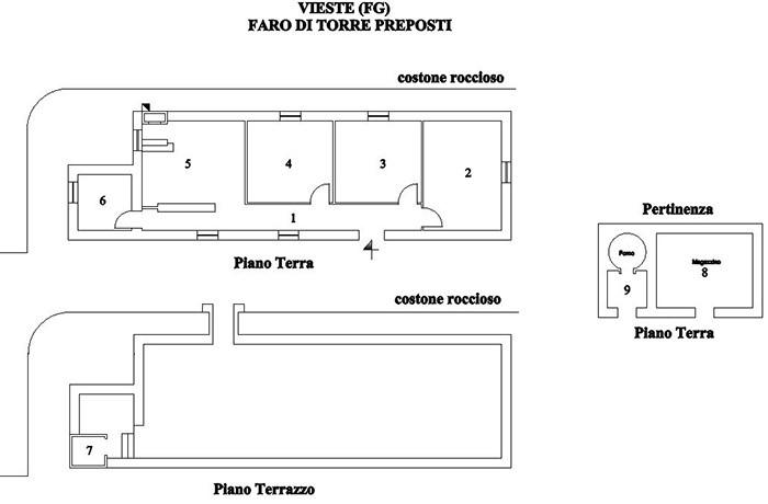 Vieste faro di torre preposti ice italian trade agency for Planimetrie del faro