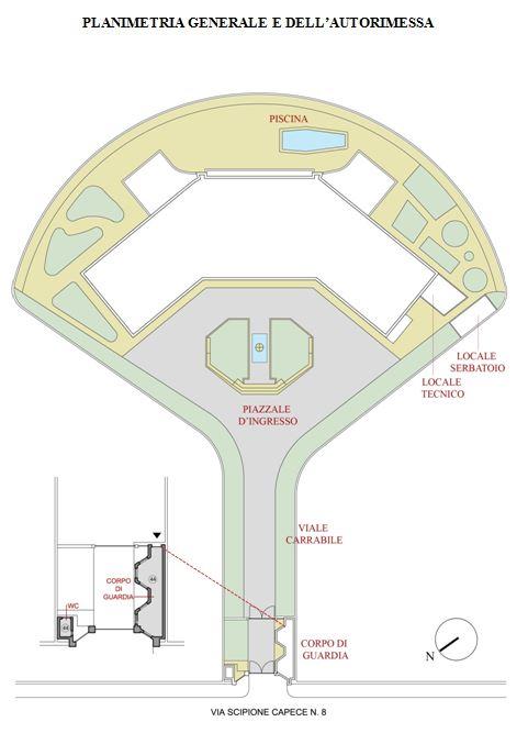 Napoli – Villa Nike Pianta principale
