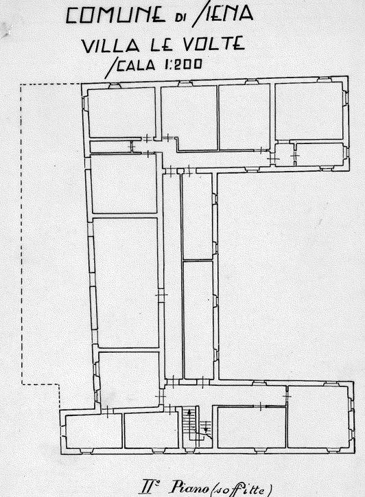 Siena – Villa Chigi Farnese Pianta principale