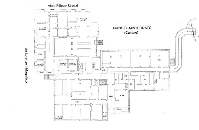 Firenze – Villa Basilewsky Pianta principale