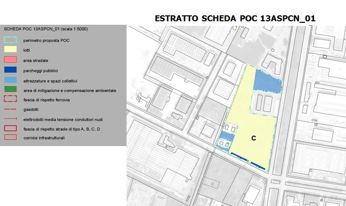 FERRARA – CONSTRUCTION AREA ON VIA FINATI floorplan