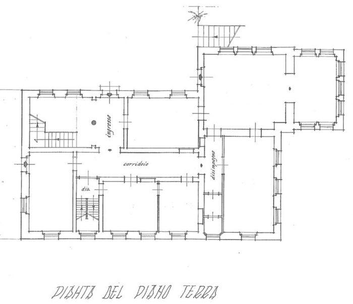 Bagni di Lucca (LU) – Villa Fiori Pianta principale