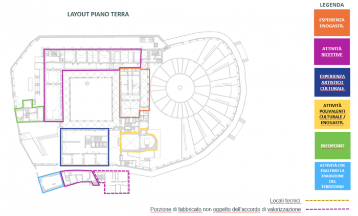 SAN GIMIGNANO (SI) – FORMER CONVENT OF SAN DOMENICO floorplan