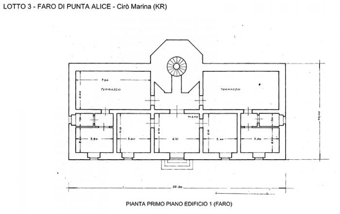 Cir marina kr faro di punta alice ice italian for Planimetrie del faro