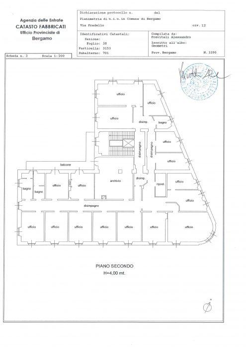 BERGAMO – VIA PRADELLO 12 floorplan