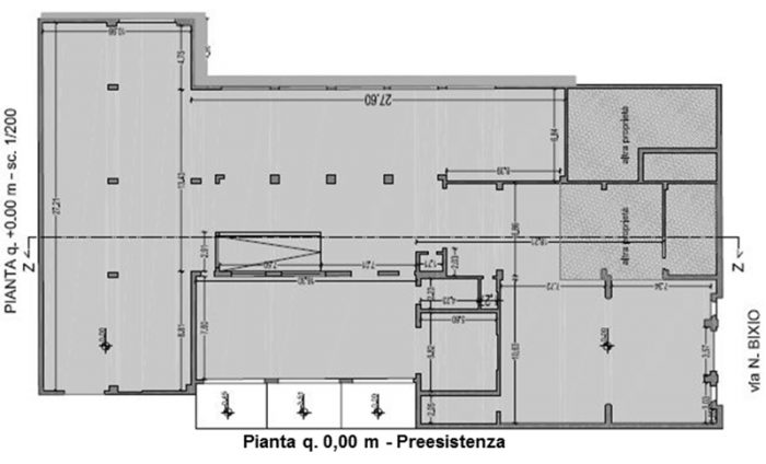 Falconara Marittima (AN) – ex Fanesi edificio Art Déco Pianta principale