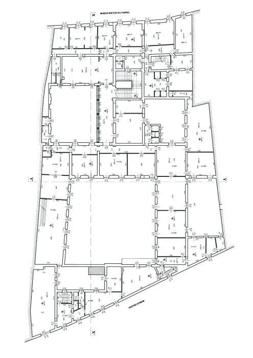 Parma – Ex Convento delle Vincenzine Pianta principale