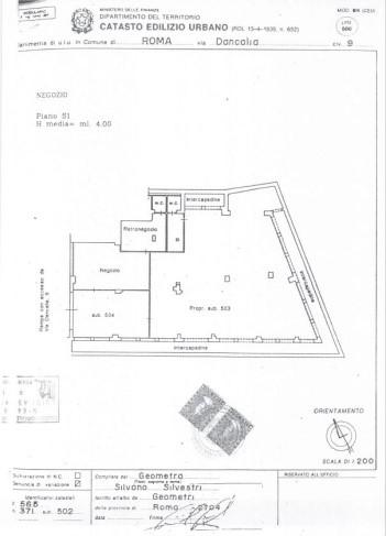 ROMA- Immobili Commerciali ATER del Comune di Roma Pianta principale