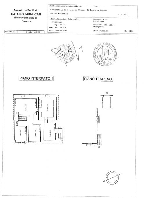 Bagno a Ripoli (FI) – Villa La Cipressa Pianta principale
