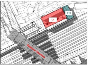 Rome – Tiburtina HS Train Station C1 Lot Floorplan