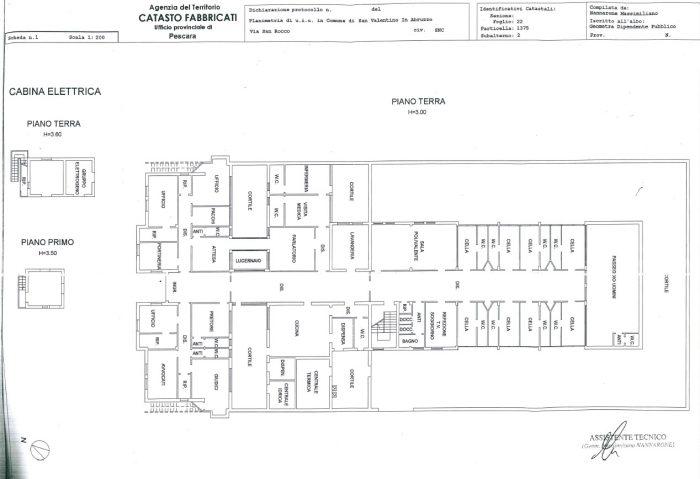 San Valentino in Abruzzo Citerione (PE) – ex Casa Mandamentale Pianta principale