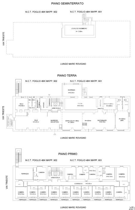 Alghero (SS) – Hotel Bellavista floorplan