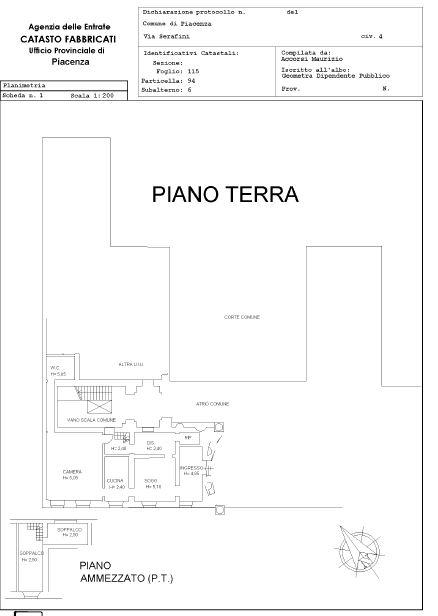 Piacenza – Serafini building floorplan
