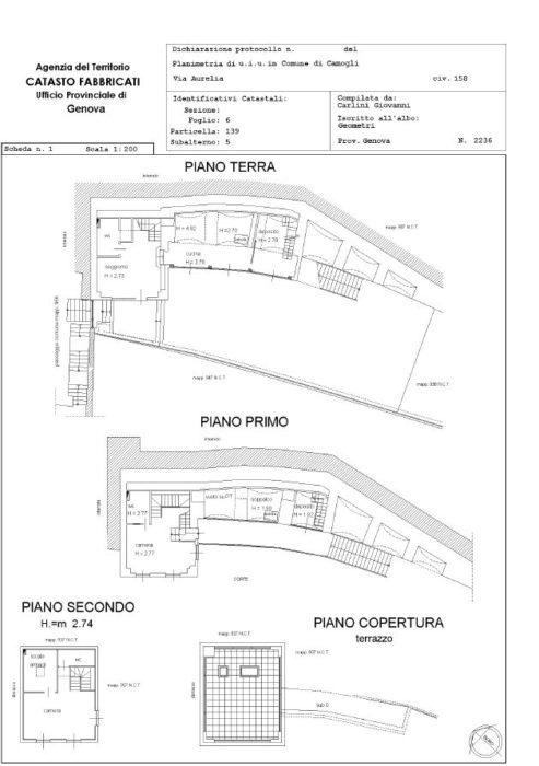 Camogli – Villa via Aurelia floorplan