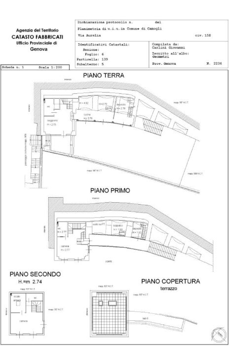 Camogli – Villa via Aurelia Pianta principale