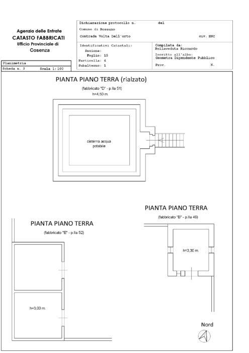 Corigliano-Rossano- Faro di Capo Trionto loc. Marinetta Pianta principale