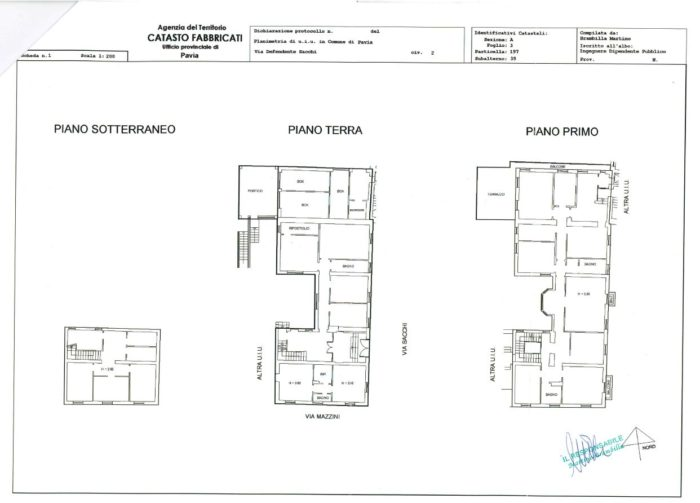 Pavia – La Dogana – Building for Accommodation floorplan