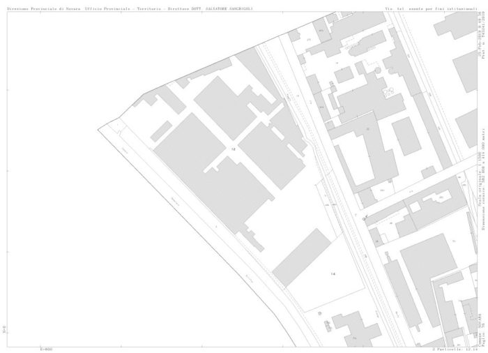 Novara – V DEPOSITO IN VIA VISCONTI Pianta principale