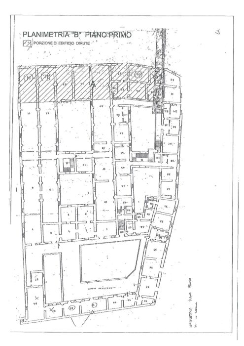 Caserta (CE) – Caserma Bronzetti Pianta principale