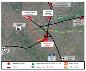 """Roma – Roma Tuscolana – C40 """"Reinventing Cities"""" competition Floorplan"""