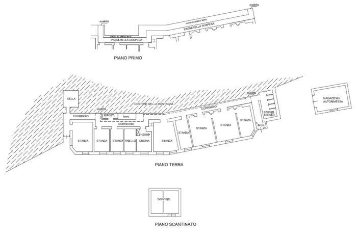 Paluzza (UD) – Ex Casermetta Difensiva di Monte Croce Carnico Pianta principale