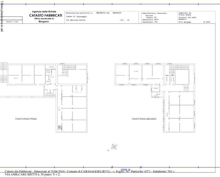 Caravaggio (BG) – Palazzo ex casa del fascio Pianta principale