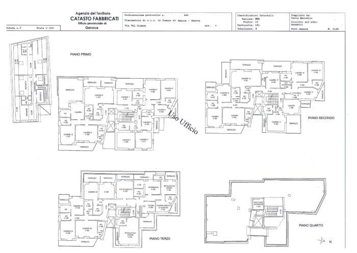 Genova Nervi – Complesso Immobiliare Pianta principale