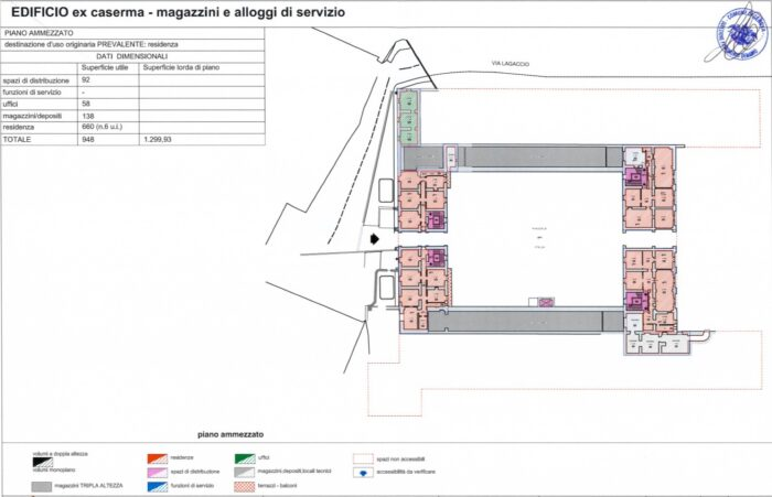 Genova – Ex Caserma Gavoglio Pianta principale
